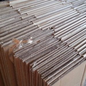 corrugated boxes prepared for recycling