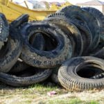 old tires needing to be recycled