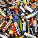 old batteries ready for disposal