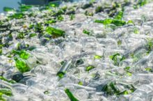 picture of glass bottles being recycled