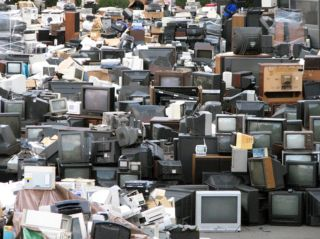 electronic waste needing to be recycled