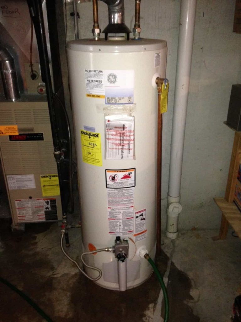 Dispose of water heater