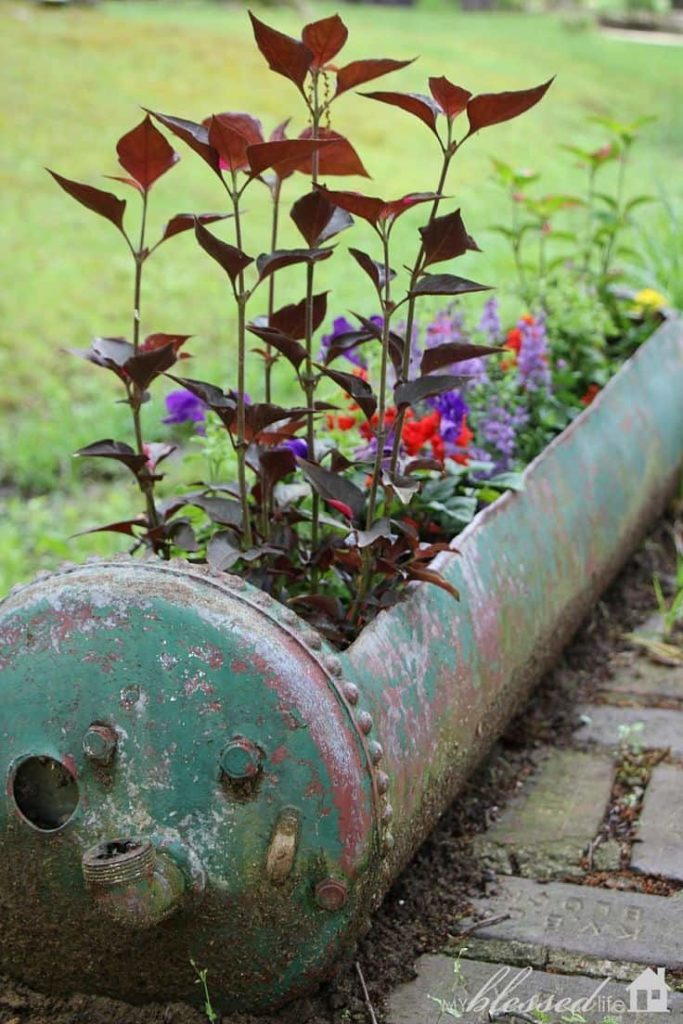 water heater flower planter