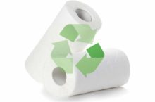 paper towels with recycle symbol